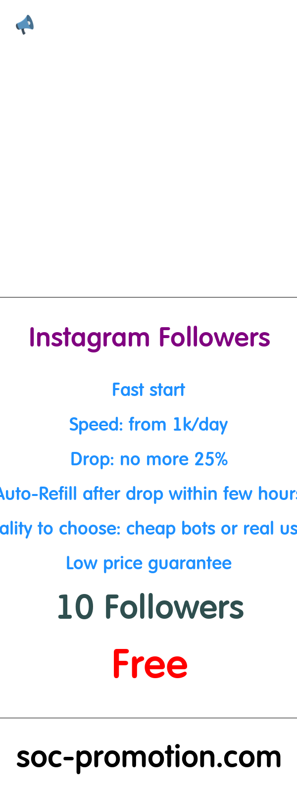 Free Promotion On Instagram Soc Promotion